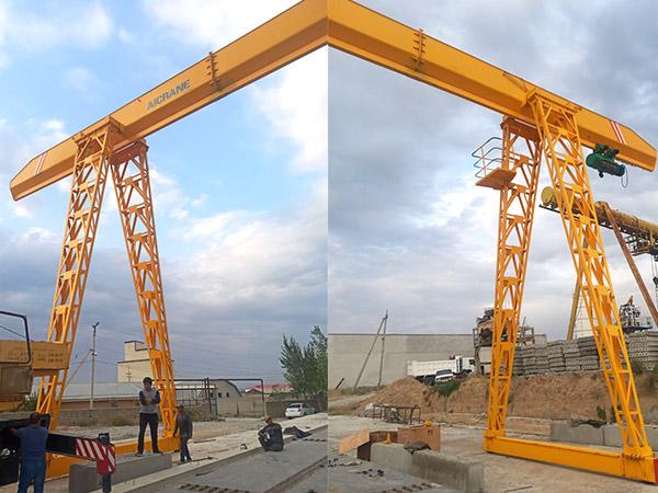 10ton-Gantry-Crane-installed-in-Uzbekistan