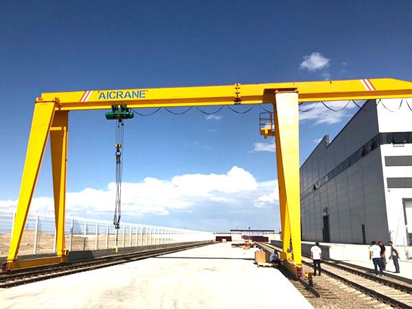 gantry cranes installed in Uzbekistan