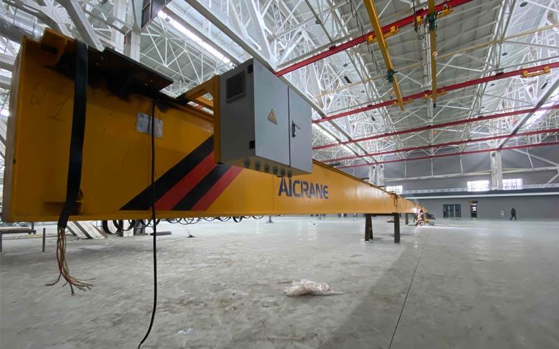 Кран мостовой однобалочный подвесной с шестью опорными опорами